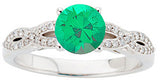 Fashionable Emerald Genuine Gemstone Ring at BitCoin Gems