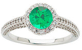 Pretty Emerald Genuine Gemstone Ring at BitCoin Gems