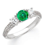 Magnificent Emerald Genuine Gemstone Ring at BitCoin Gems