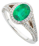Eye Catching Emerald Genuine Gemstone Ring at BitCoin Gems