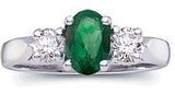 Exquisite Emerald Genuine Gemstone Ring at BitCoin Gems