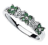 Lovely Emerald Genuine Gemstone Ring at BitCoin Gems