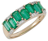 Snazzy Emerald Genuine Gemstone Ring at BitCoin Gems