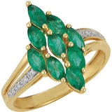 Desirable Emerald Genuine Gemstone Ring at BitCoin Gems