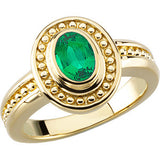Elegant Emerald Genuine Gemstone Ring at BitCoin Gems