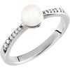 Elegant Freshwater Pearl Genuine Gemstone Ring at BitCoin Gems