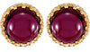 Stunning Genuine Gemstone Rhodolite Garnet Earrings at BitCoin Gems