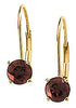 Royal Genuine Gemstone Garnet Earrings at BitCoin Gems