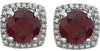 Alluring Genuine Gemstone Garnet Earrings at BitCoin Gems