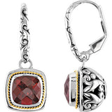 Incredible Genuine Gemstone Garnet Earrings at BitCoin Gems