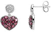Gorgeous Genuine Gemstone Garnet Earrings at BitCoin Gems
