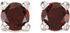 Beautiful Genuine Gemstone Mozambique Garnet Earrings at BitCoin Gems