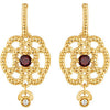 Bohemian Chic Genuine Gemstone Garnet Earrings at BitCoin Gems