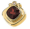 Unique Genuine Gemstone Garnet Pendant for SALE at BitCoin Gems