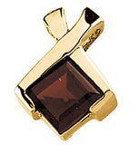Bold Genuine Gemstone Garnet Pendant for SALE at BitCoin Gems