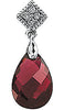 Royal Genuine Gemstone Garnet Pendant for SALE at BitCoin Gems