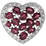 Beautiful Genuine Gemstone Garnet Pendant for SALE at BitCoin Gems