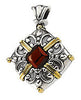 Ornate Genuine Gemstone Garnet Pendant for SALE at BitCoin Gems