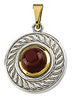 Expressive Genuine Gemstone Rhodolite Garnet Pendant for SALE at BitCoin Gems