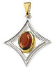 Modern Genuine Gemstone Garnet Pendant for SALE at BitCoin Gems