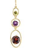 Amazing Genuine Multi Gemstone Garnet, Amethyst & Peridot Pendant for SALE at BitCoin Gems