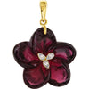 Feminine Genuine Gemstone Garnet Pendant for SALE at BitCoin Gems