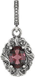 Ravishing Genuine Gemstone Rhodolite Garnet Pendant for SALE at BitCoin Gems
