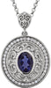 Breathtaking Genuine Gemstone Iolite Pendant for SALE at BitCoin Gems