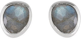 Simple & Beautiful Genuine Gemstone Labradorite Earrings at BitCoin Gems
