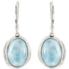 Modern Genuine Gemstone Larimar Earrings at BitCoin Gems