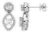 Radiant Genuine Gemstone Moissanite Earrings at BitCoin Gems