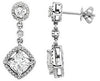 Elegant Genuine Gemstone Moissanite Earrings at BitCoin Gems