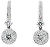 Exceptional Genuine Gemstone Moissanite Earrings at BitCoin Gems
