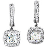 Fetching Genuine Gemstone Moissanite Earrings at BitCoin Gems