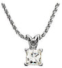 Exceptional Genuine Gemstone Moissanite Pendant for SALE at BitCoin Gems