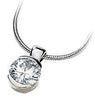 Stunning Genuine Gemstone Moissanite Pendant for SALE at BitCoin Gems
