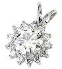 Royal Genuine Gemstone Moissanite Pendant for SALE at BitCoin Gems
