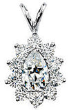 Regal Genuine Gemstone Moissanite Pendant for SALE at BitCoin Gems