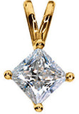 Sophisticated Genuine Gemstone Moissanite Pendant for SALE at BitCoin Gems