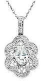 Outstanding Genuine Gemstone Moissanite Pendant for SALE at BitCoin Gems