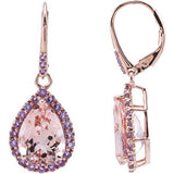 Pretty Genuine Gemstone Morganite Earrings at BitCoin Gems