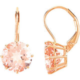 Glamorous Genuine Gemstone Morganite Earrings at BitCoin Gems