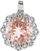 Ornate Genuine Gemstone Morganite Pendant for SALE at BitCoin Gems