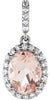 Elegant Genuine Gemstone Morganite Pendant for SALE at BitCoin Gems