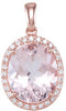 Wonderful Genuine Gemstone Morganite Pendant for SALE at BitCoin Gems