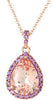 Pretty Genuine Gemstone Morganite Pendant for SALE at BitCoin Gems