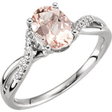 Best Morganite Genuine Gemstone Ring at BitCoin Gems
