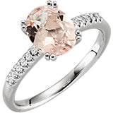 Pretty Morganite Genuine Gemstone Ring at BitCoin Gems