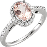 Stylish Morganite Genuine Gemstone Ring at BitCoin Gems