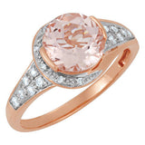 Attractive Morganite Genuine Gemstone Ring at BitCoin Gems